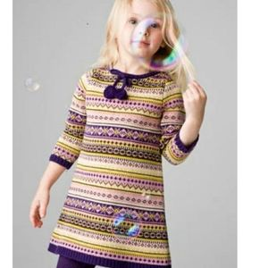 Lucy Sykes Charlotte Striped Sweater Dress Size 3T
